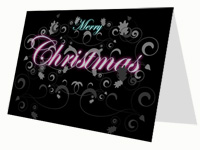 Decorative Christmas Pattern Card