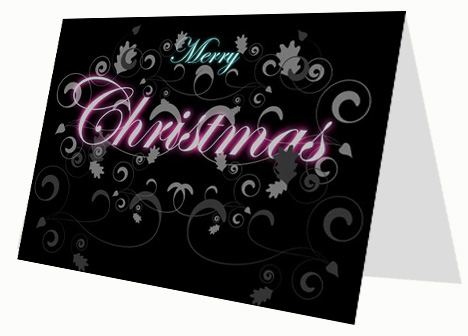 Decorative Christmas Pattern Card inside page