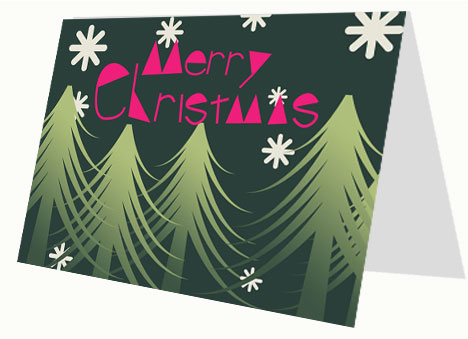 Modern Christmas Card inside page