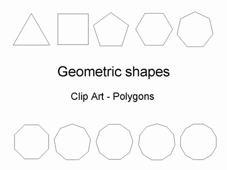 Geometric shapes template toneelgroepblik