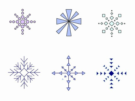 Snowflakes Clip Art inside page