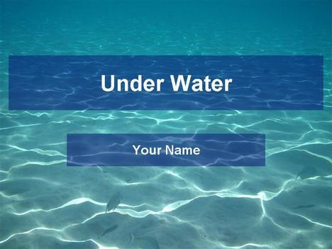 Underwater template toneelgroepblik Images
