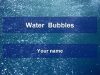 Water bubbles template thumbnail