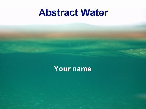 Abstract Water Template