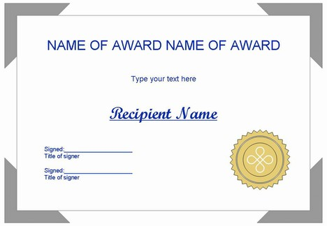 Certificate clip art set 1 for Award certificate template powerpoint