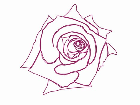 Valentine roses clip art inside page