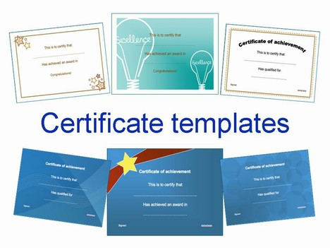 certificate of appreciation ppt