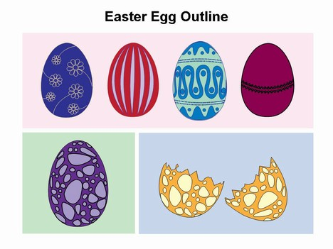 Easter egg template for Egg carton labels template