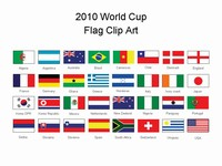 World Cup flags PowerPoint template