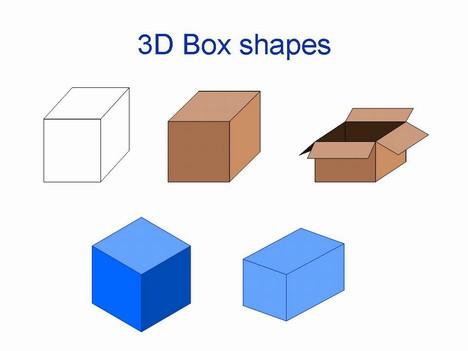 3D 상자 모양