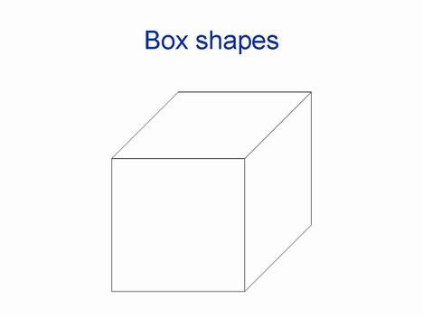 페이지 안에 3D 상자 모양
