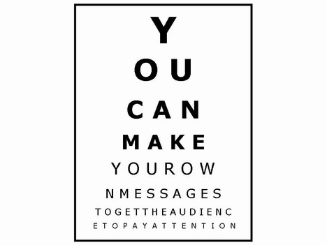 Optician's charts - Presentation Magazine