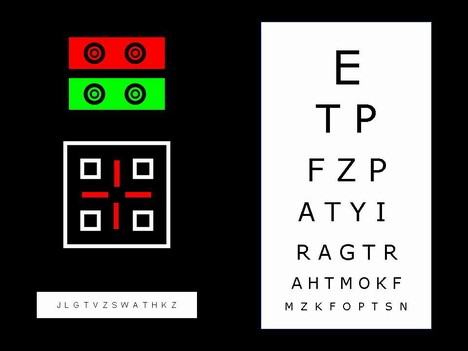 Optician's charts inside page