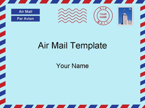 Air Mail Envelope Template Airmail Letter Template. Air Mail Envelope  Template   Airmail Letter ...