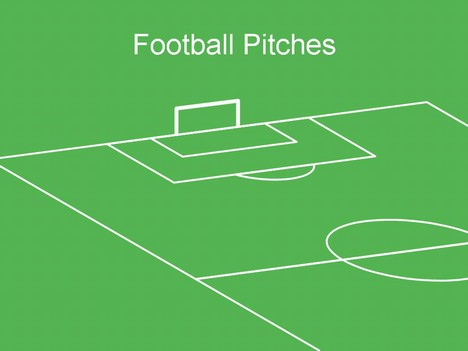 Football pitch template