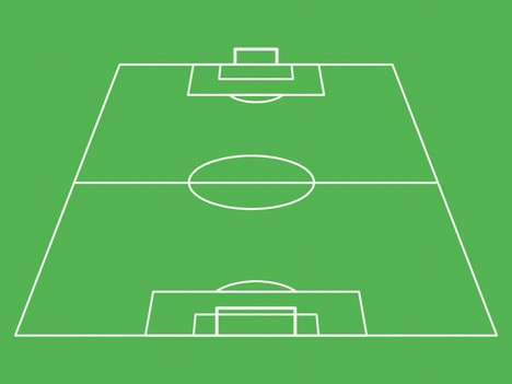Football pitch template for Soccer starting lineup template