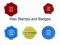Wax stamps and badges