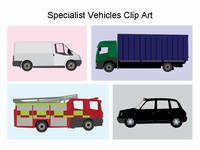 Specialist transport vehicles Clip Art thumbnail