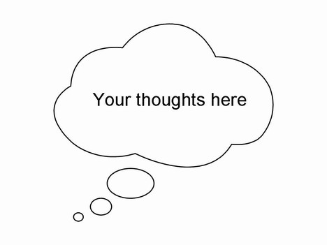 Thought and Speech Bubbles Clip Art inside page