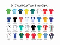 2010 World Cup Individual Team Shirts