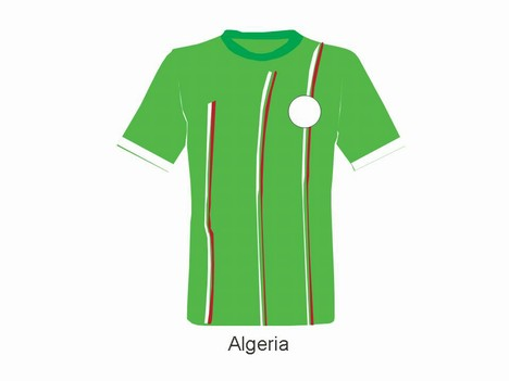 2010 World Cup Individual Team Shirts inside page