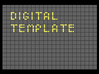Digital display template