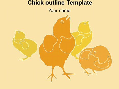 Card Outline Template Chick Outline Template