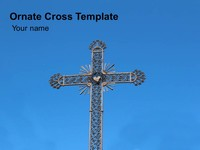 Ornate Cross PowerPoint Template