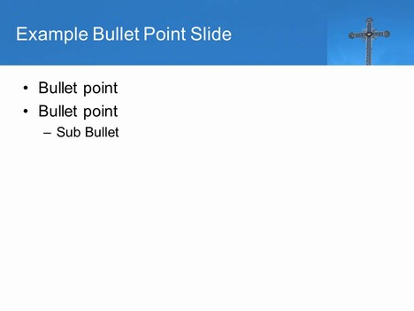 Ornate Cross PowerPoint Template inside page
