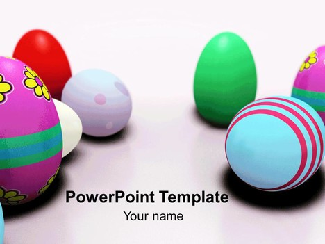 Patterned Easter Egg Template