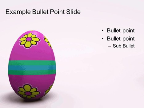 Patterned Easter Egg Template inside page