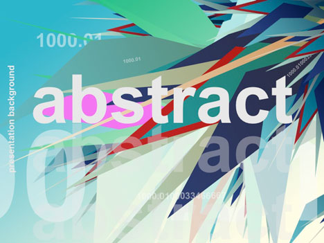 Abstract shapes template toneelgroepblik