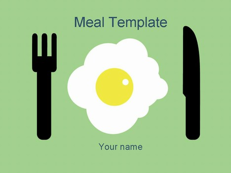 This is a cheerful design for a meal template