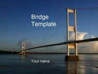 Bridge PowerPoint Template thumbnail