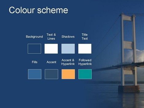 Bridge PowerPoint Template inside page