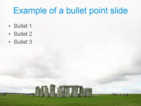 Stonehenge PowerPoint Template inside page