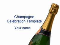 Birthday Champagne PowerPoint Template