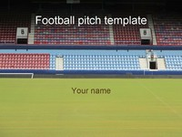 Football Stadium PowerPoint Template thumbnail