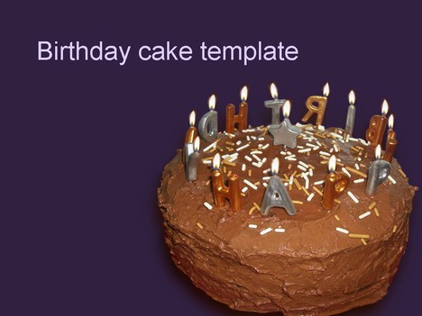 Birthday Cake Template