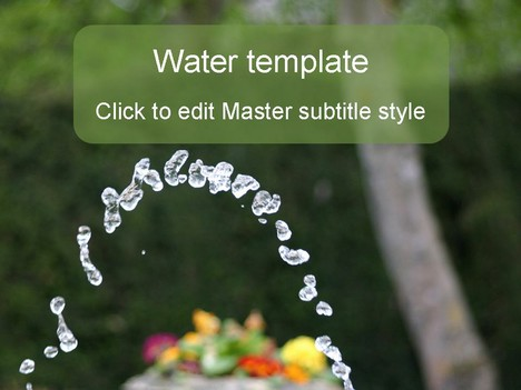 Cool water powerpoint template toneelgroepblik