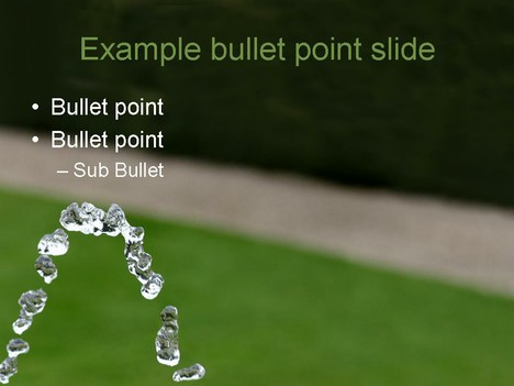 Cool Water PowerPoint Template inside page