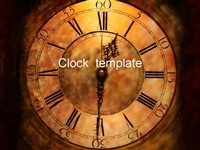 Clock Face PowerPoint Template thumbnail