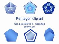Pentagon Clip Art Template