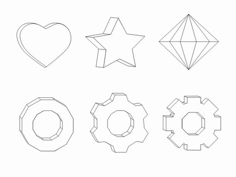 3D Shapes Clip Art inside page