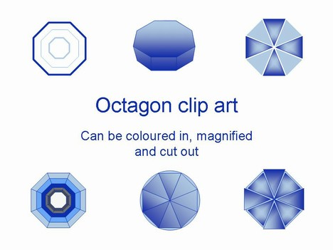 Octagon Clip Art Template