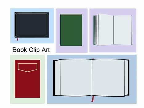 book clip art template. Black Bedroom Furniture Sets. Home Design Ideas
