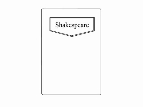 Book Clip Art Template inside page