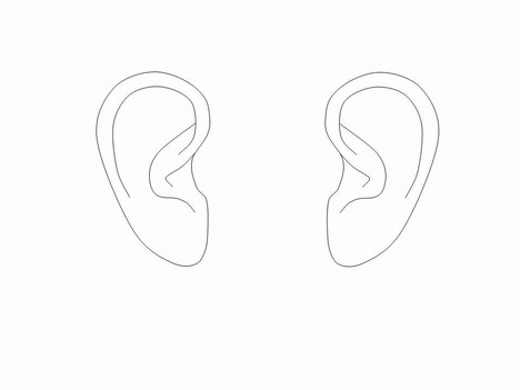 Ear Outlines Clip Art inside page