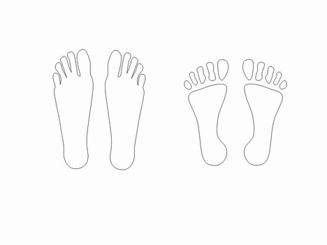 foot outline template selo l ink co