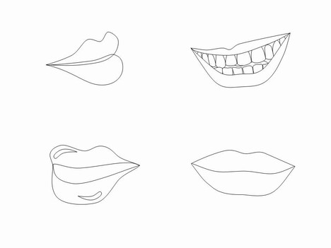 Lips Clip Art inside page